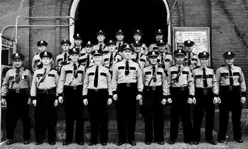 Historic group photo of the Andover Police Force.