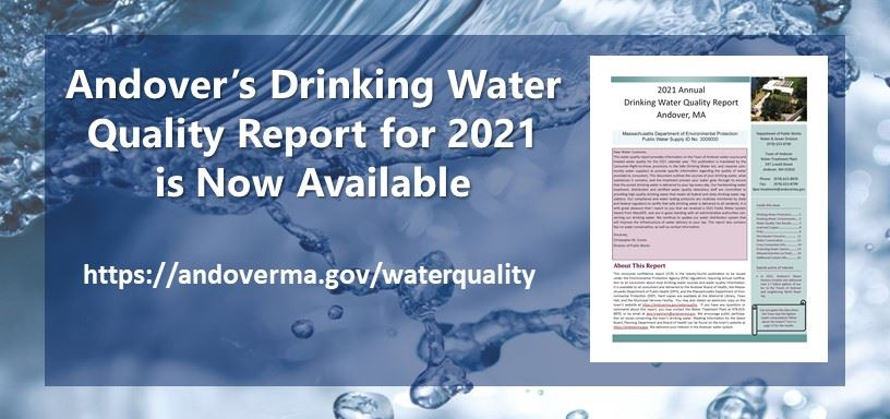Andover's Drinking Water Quality Report for 2018 is now available