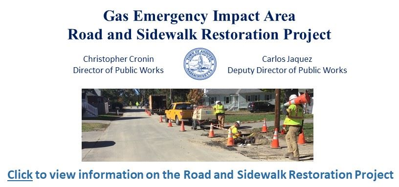 Click to view more information on the Road and Sidewalk Restoration Project.