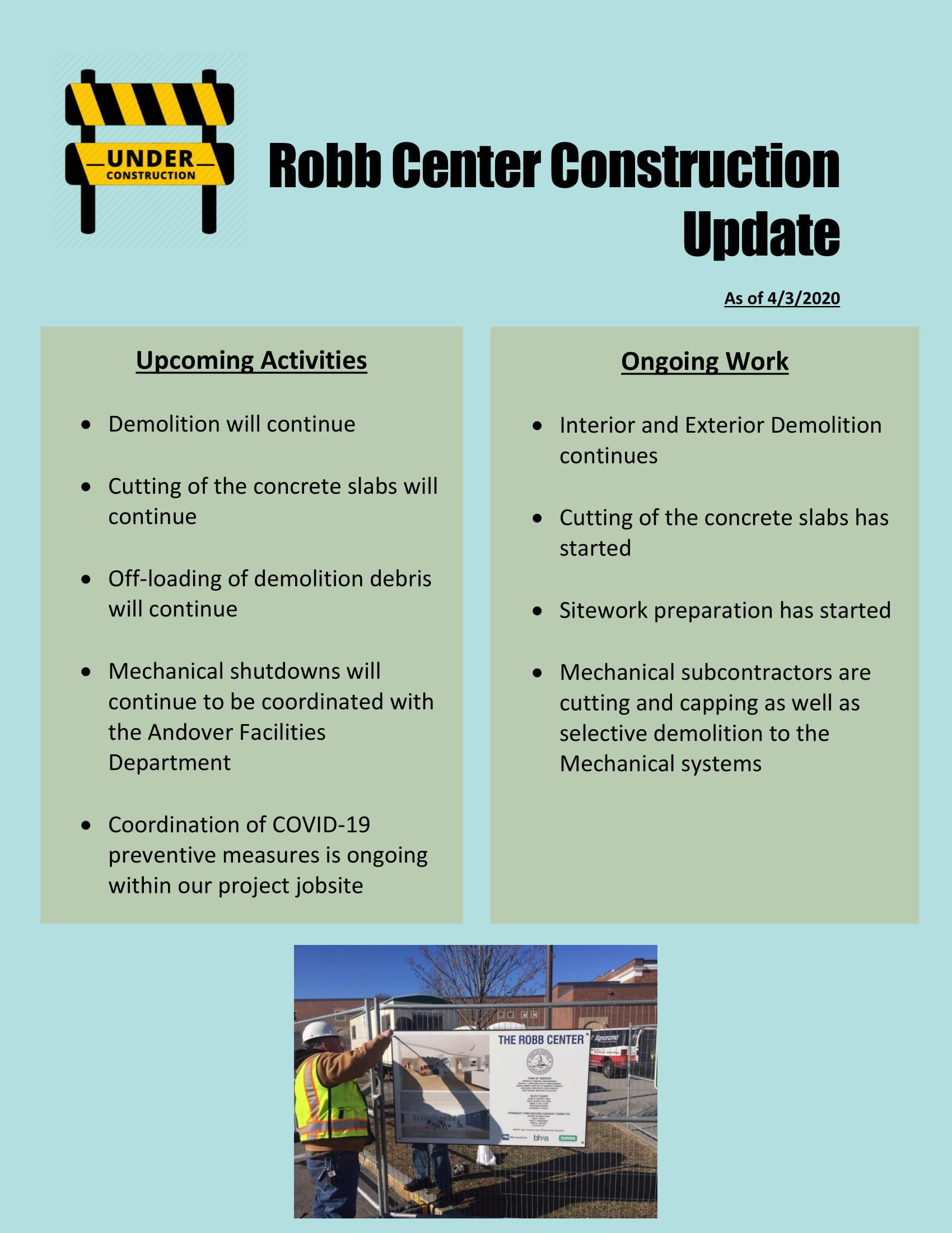 Robb Center Construction Update-1