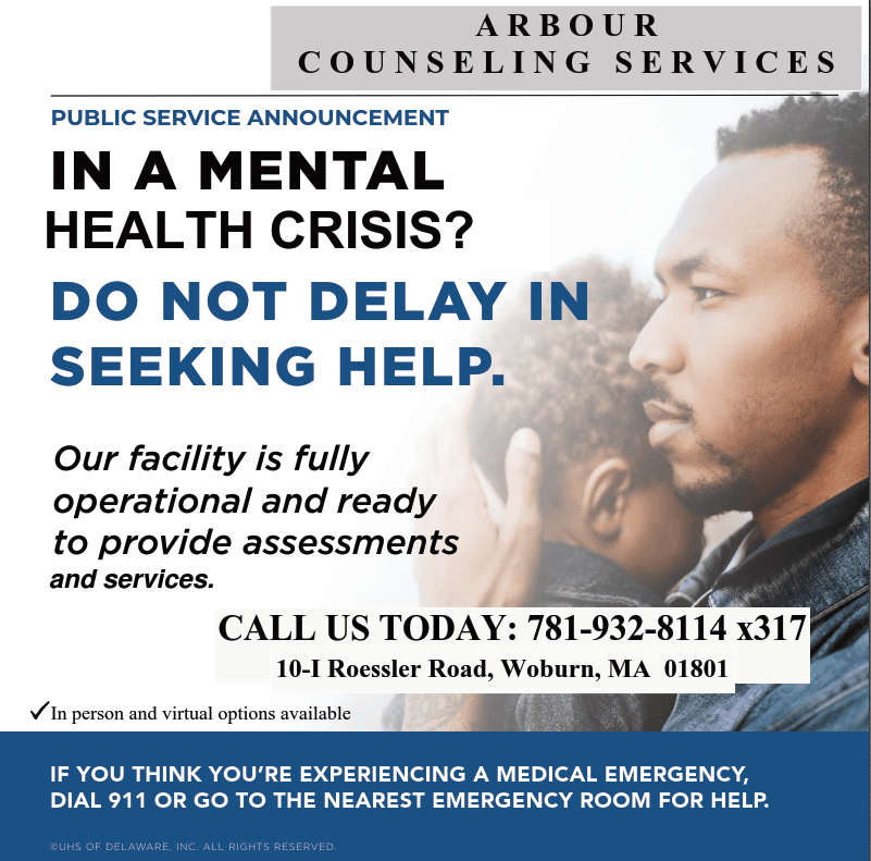 Arbour Counseling Services Flyer